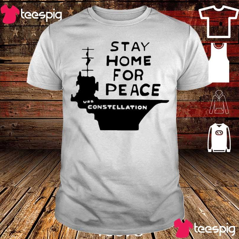 Official Stay Home For Peace Vss Constellation Shirt