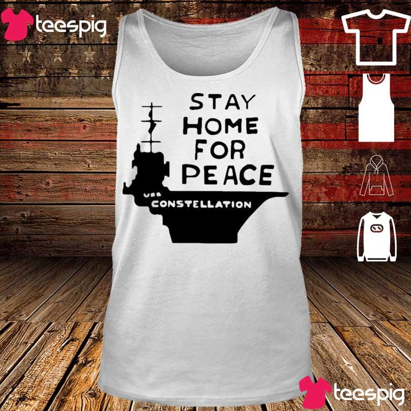 Official Stay Home For Peace Vss Constellation Shirt tank top