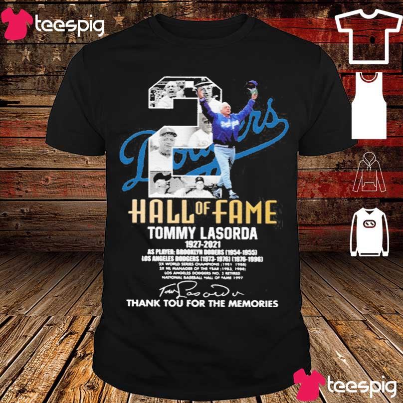 Official Tommy Lasorda 1927-2021 Thank You For The Memories Shirt