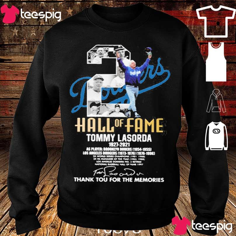 Official Tommy Lasorda 1927-2021 Thank You For The Memories Shirt sweater