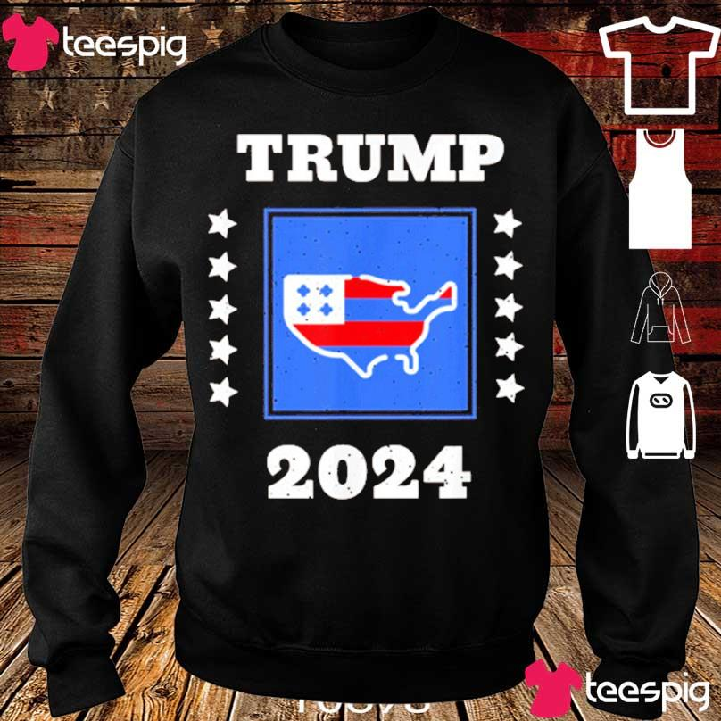 Official Trump 2024 Election Flag Keeping America Great American Flag President Shirt sweater